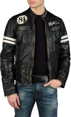 Jackets certainly are a vital component to every single man's ward… Mens jackets. Jackets certainly are a vital component to every single man's wardrobe. Men require outdoor jackets for a variety of occasions and several climate conditions Men's Leather Jacket, Biker Leather, Leather Men, Leather Jackets, Jacket Men, Custom Leather, Biker Style, Jacket Style, Armani Jeans Men