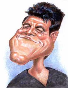 caricatures by Lisa /// Simon Cowell.....funny just because I love the xfactor.
