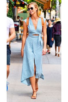 Karlie Kloss, we LOVE your outfit, but we might love your backpack even more