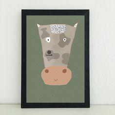 Illustrationen - Ka die Kuh: Bild Illustration Kunstdruck abstrakt - ein Designerstück von miameideblog bei DaWanda