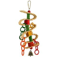 Braided Spool & Blocks Parrot Toy Lots of crunchy and chewable textures for your Parrot to get to grips with.