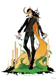 loki looks sharp in both his suit and armor ❤