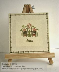 A gorgeous Christmas Canvas. Simply Creating: CTMH October Stamp-of-the-Month Blog Hop: Peace