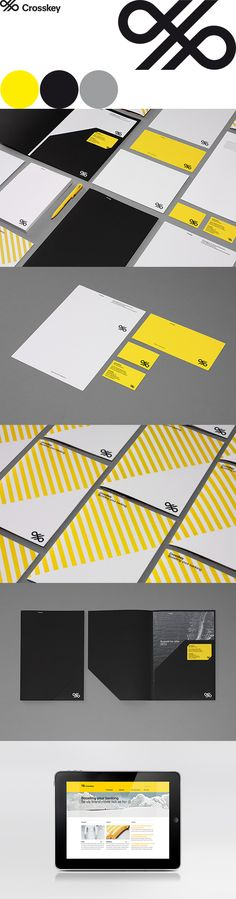 Crosskey Brand Identity - Agency: Kurppa Hosk. Love the folder template