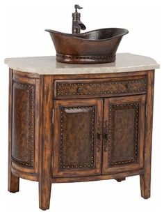 New Ambella Home Sink Chest Rustico - traditional - Bathroom Vanities And Sink Consoles - EuroLuxHome