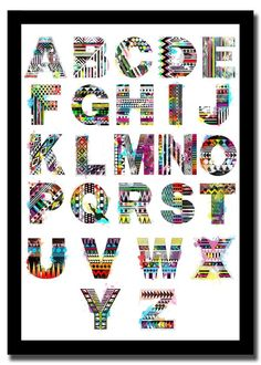 Tribal Alphabets by Heba Ashri, via Behance