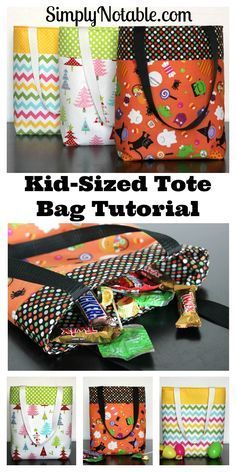 By changing out the fabrics, this tote is perfect for any occasion.... holidays, trips to grandma's house, library books, etc! I might even use one as a diaper bag to keep in my car!   If you aren't handy on a sewing machine, I have some Halloween bag options available for purchase in my AuntieEmsCrafts Etsy store. #iloverileyblake