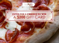 #entry #sweeps Enter for a chance to win a $200 gift card from Naples Ristorante!