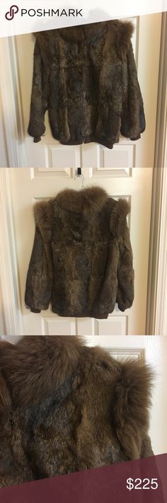 Gorgeous Fur Coat! Beautiful rabbit fur coat. Excellent condition, like it hasn't been worn before. No size but can fit up to a Large GDT Too Jackets & Coats