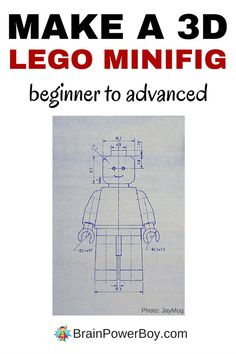 Directions and video tutorials will teach you how to make a 3D LEGO Minifig. There is an easy beginner option as well as something for the more advanced designer. Click through to learn how to make your own minfig on the computer.