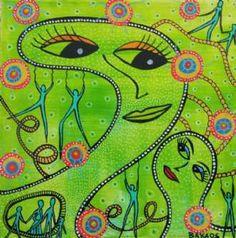 Kunstsamlingen | Artist: Barbara Kaad Ostenfeld | Title: Hæng i | Height: 20cm,  Width: 20cm | Find it at kunstsamlingen.dk