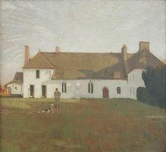 William Nicholson - The White House, Sutton Veny Canvas Size, Oil On Canvas, William Nicholson, Art Uk, Your Paintings, Light Colors, Fine Art, Landscape, House