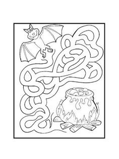 Halloween Arts And Crafts, Halloween Games, Halloween Activities, Holidays Halloween, Scary Halloween, Fall Crafts, Halloween Party, Colouring Pages, Coloring Books