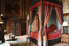 Eastnor Castle - Stunning Herefordshire England luxury Castle for rent Eastnor Castle, Palace Interior, Stone Cottages, Four Poster Bed, Herefordshire, Mansions, Interior Design, Castle Interiors, Luxury