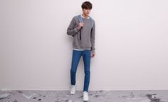 Pull&Bear - man - jeans - skinny fit jeans - blue - 05682536-V2015