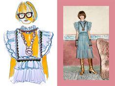 Pre Fall 16: Gucci Illustrated by Maria Lavigina | Unique Style Platform