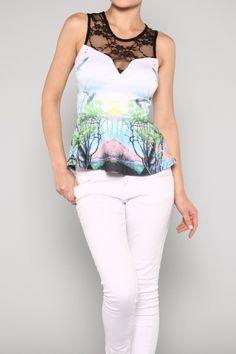 Lace Print Top #sale #wholesale #dress #summer #save