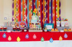 Rainbow Party Dessert Table #rainbowparty #desserttable