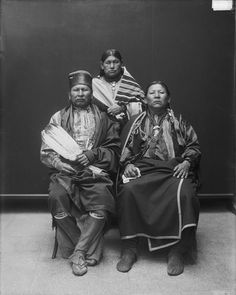 Generous, White Plume, and Wa-sho-she, men of the Osage Nation. 1913. No additional information re: this photo.