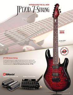 Sterling by Music Man - new 7 String for NAMM JP170D