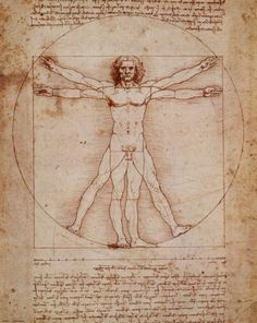 A great poster of The Vitruvian Man by Leonardo da Vinci - the famous illustration from the Italian Renaissance! Need Poster Mounts. Renaissance Kunst, Renaissance Men, Renaissance Recipe, Renaissance Humanism, Italian Renaissance Art, Michelangelo, Figure Drawing, Painting & Drawing, Figure Painting