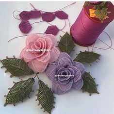 Needle Lace, Burlap Wreath, Embroidery Patterns, Needlework, Recycling, Wreaths, Rose, Crochet, Handmade