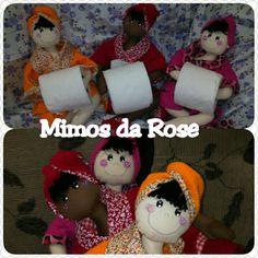Boneca porta papel higienico curta nosso face mimos da rose
