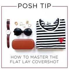 Photo Styling Tip: How to master the flat lay covershot to get your Poshmark listings sold faster.