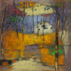 rick stevens art:  32-13 | pastel on paper | 14 x 14"