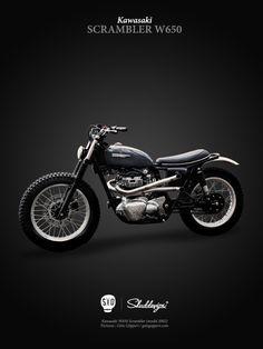 Kawasaki Scrambler W650 by skuddesign