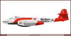 If Formula 1 met fighter planes