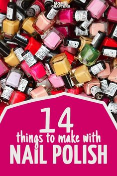 14 cool and functional nail polish crafts! These quick and easy crafts are perfect crafts for teens, or for when you're short on time and all use a common ingredient: nail polish! (Cool Crafts With Nail Polish) Quick And Easy Crafts, Easy Diy Crafts, Creative Crafts, Diy Crafts To Sell, Diy Crafts For Kids, Fun Crafts, Sell Diy, Recycled Crafts, Kids Diy