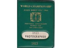 WORLD CUP 66 Official photographer pass for the 1966 World Cup Final Tournament…