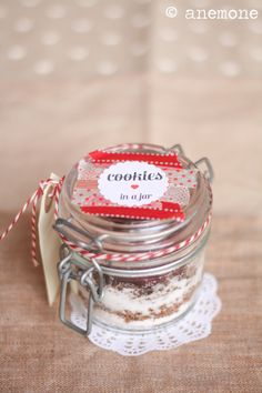 Cookies in a jar: preparato per biscotti in barattolo + free printables per voi / [ Anemone in Cucina ]