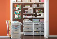 Organized Craft Room.  I would totally need my sister's help with the organization part.