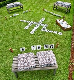 Outdoor Scrabble                                                                                                                                                     More