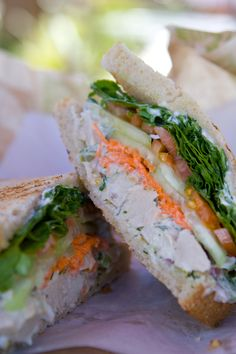 (Las Vegas, Nevada) Whole Foods: A delicious vegan Chicken Salad Sandwich (on Sourdough) $6.99