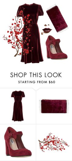 """Untitled #263"" by domla ❤ liked on Polyvore featuring Valentino, Edie Parker, Dune, Brewster Home Fashions and LASplash"