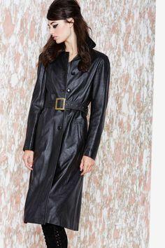 Jacelyn Leather Coat