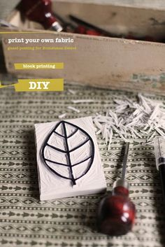 block printing, haven't done this since high school, would love to try again!