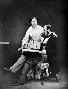 Queen Victoria and Prince Albert in 1854
