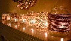 Reaproveite os seus potes de vidro e faça lindas decorações para a sua casa. Confira mais ideais no nosso artigo.