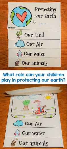 Professional Life: This Earth Day flip book is wonderful to use on Earth Day or anytime during the month.They are designed to help kids understand that they too can play an important role in helping to protect the earth. Earth Day Activities, Science Activities, Activities For Kids, Science Books, Computer Science, Earth Day Projects, Earth Day Crafts, Earth Book, Earth 2
