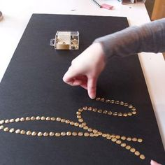 Push Pin Art {DIY Art Work}- with initial/monogram on headboard