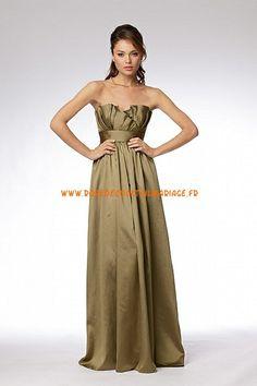 Robe bustier pas cher 2013 brun plissé robe de soirée satin