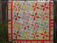 Shabby Chic Beach Coral Quilt. $180.00, via Etsy.