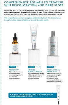 What's a great SkinCeuticals skincare regimen for dark spots and hyperpigmentation? Check it out.
