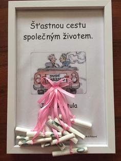 Fotka uživatele Barbora Pokorná. Wedding Cards, Diy Wedding, Wedding Gifts, Fun Crafts, Diy And Crafts, Crafts For Kids, Diy Presents, Diy Gifts, Diy Birthday