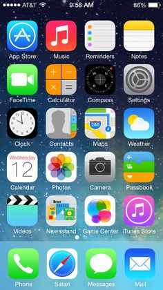 iOS 7 will be released today, September for compatible iPhones, iPads, and iPod Touch. Iphone 5c, Free Iphone 6s, New Iphone, Smartwatch, Ios 7 Design, Dashboard Design, Design Design, Smartphone, Ios Update