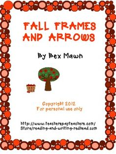 Fall Frames and Arrows : Everyday Math Second Grade, one rule, adding and subtracting